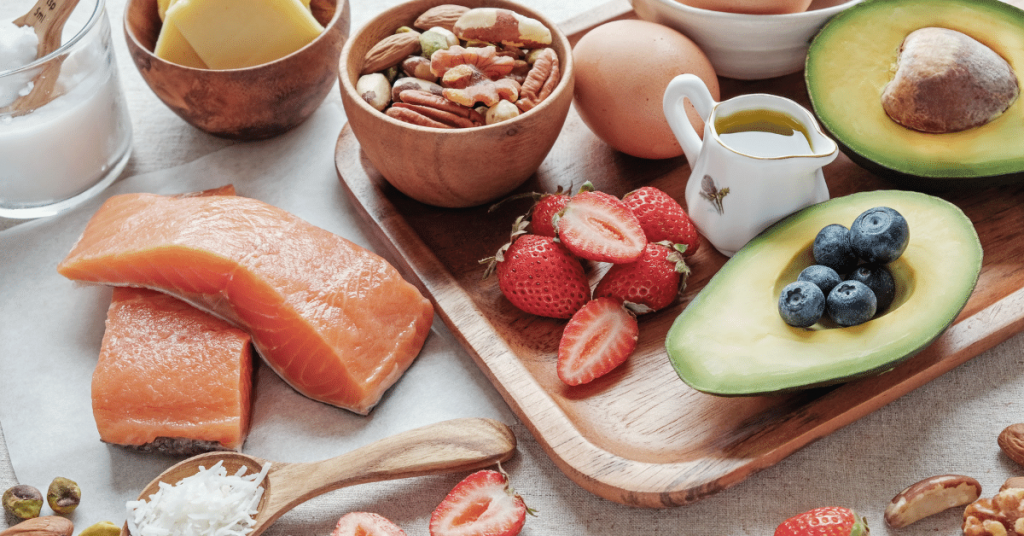 Salmon, nuts, strawberries, eggs and avocado are part of a key diet plan for busy moms.